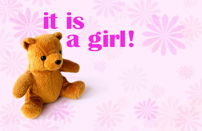 Its a girl - Teddy Bear
