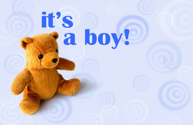 Its a boy - Teddy Bear