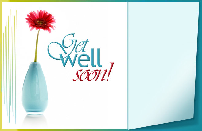 Get well soon - Blue Vase
