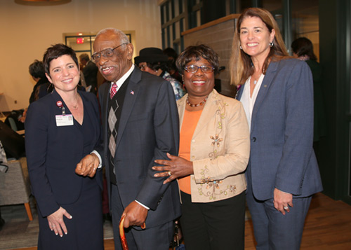 Elizabeth Bernat, Louis Waring, Jr Roberta Pinckney and Lorraine Lutton at Ribbon Cutting